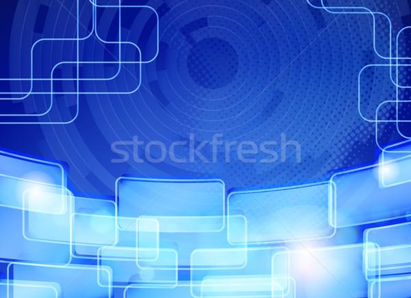 Abstrato azul techno computador projeto Foto stock © OlgaYakovenko
