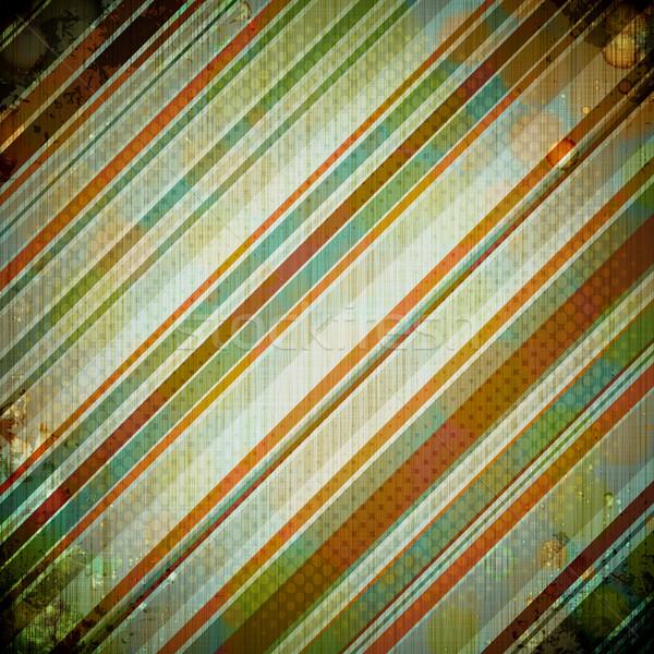 Abstract retro papier boek ontwerp verjaardag Stockfoto © OlgaYakovenko