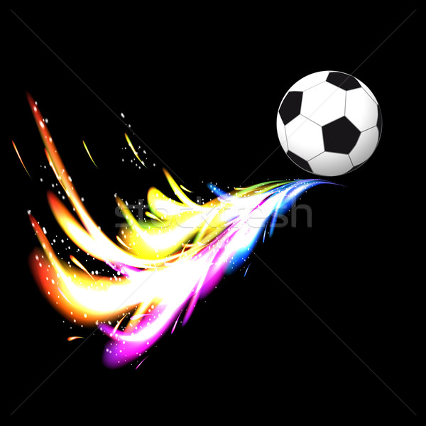 Piłka kolorowy ogon czarny sportu Zdjęcia stock © OlgaYakovenko