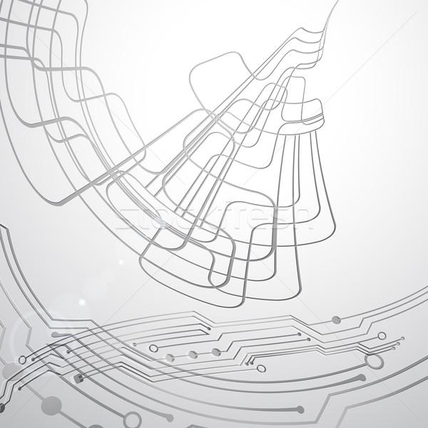 Absztrakt vektor techno vonal textúra tudomány Stock fotó © OlgaYakovenko