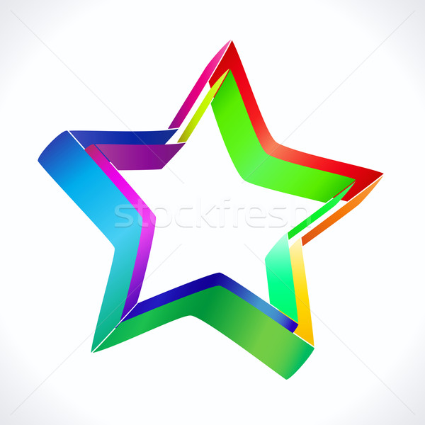 Stockfoto: Kleurrijk · star · icon · witte · eps · 10