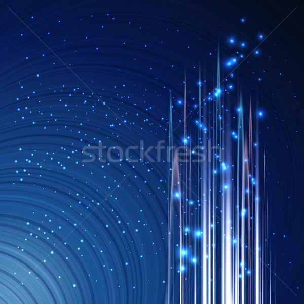 Résumé techno design bleu texture Photo stock © OlgaYakovenko