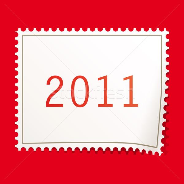 Рождества марок бумаги фон пространстве почты Сток-фото © OlgaYakovenko