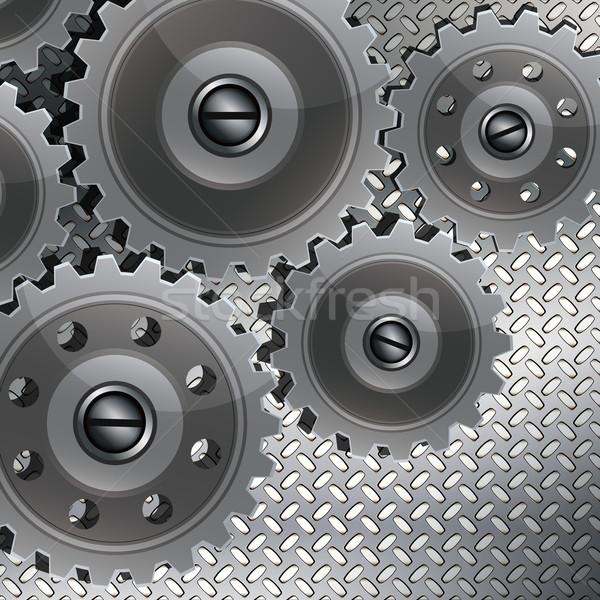 Absztrakt techno fém sebességváltó textúra csapatmunka Stock fotó © OlgaYakovenko