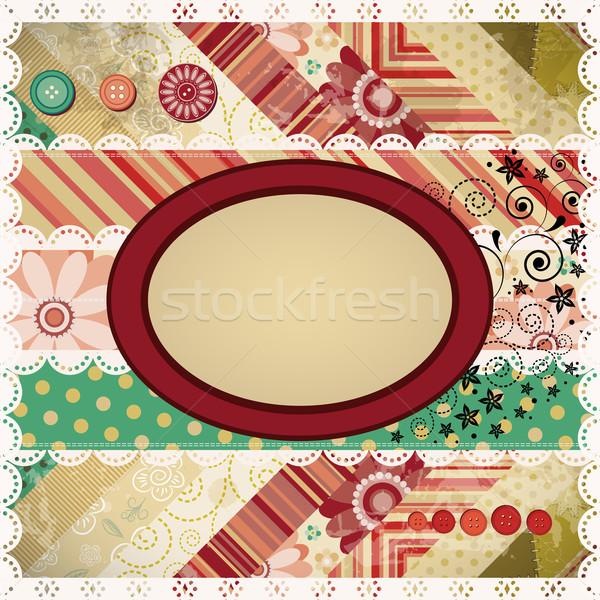Classique patchwork fleur papier design signe Photo stock © OlgaYakovenko