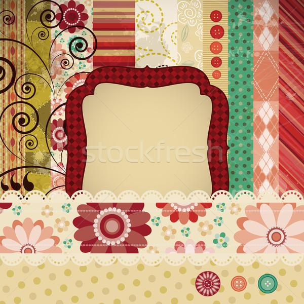 Klasik yama işi pulları el yazısı metin Stok fotoğraf © OlgaYakovenko