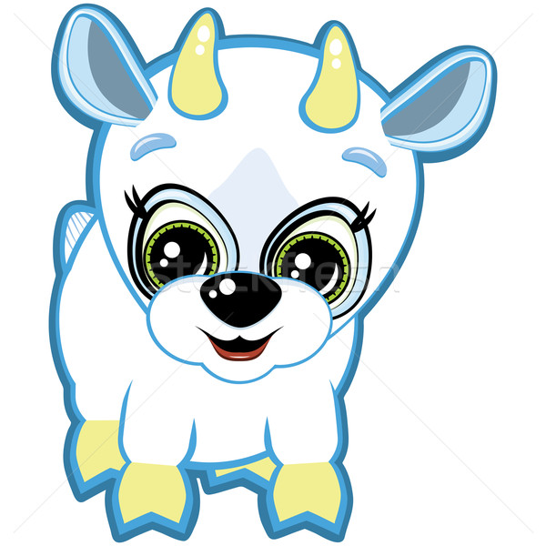 Little goat - one of the symbols of the Chinese horoscope Stock photo © OlgaYakovenko