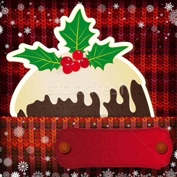 Weihnachten Dekorationen gestrickt Mode abstrakten Stock foto © OlgaYakovenko