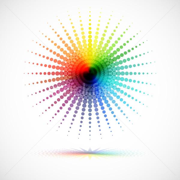 аннотация мозаика текстуры солнце дизайна фон Сток-фото © OlgaYakovenko