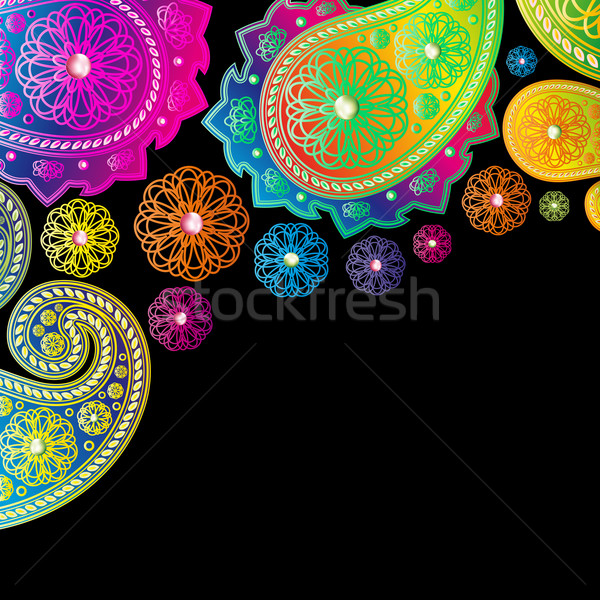 Paisley designs background. Stock photo © OlgaYakovenko