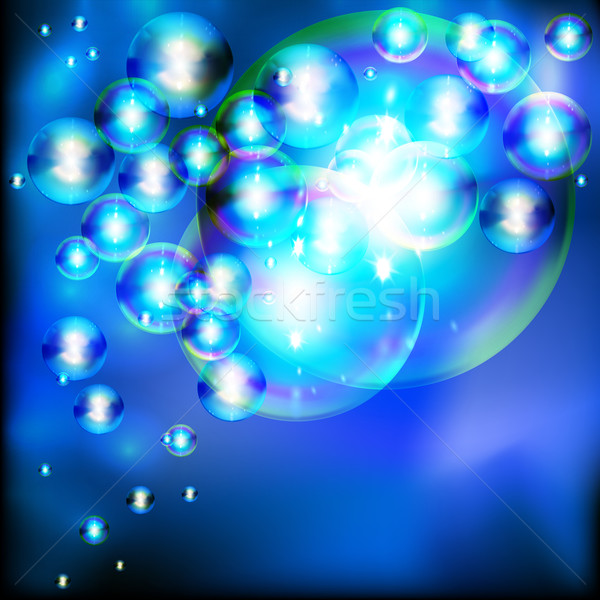 Abstract background with twinkling soap bubbles. Stock photo © OlgaYakovenko