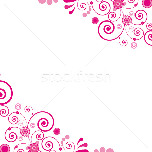 Vector. Pink flower. Floral background. To see similar, please v Stock photo © OlgaYakovenko