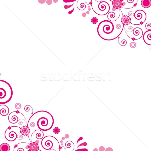 ベクトル ピンクの花 フローラル 参照してください 類似した 訪問 ストックフォト © OlgaYakovenko