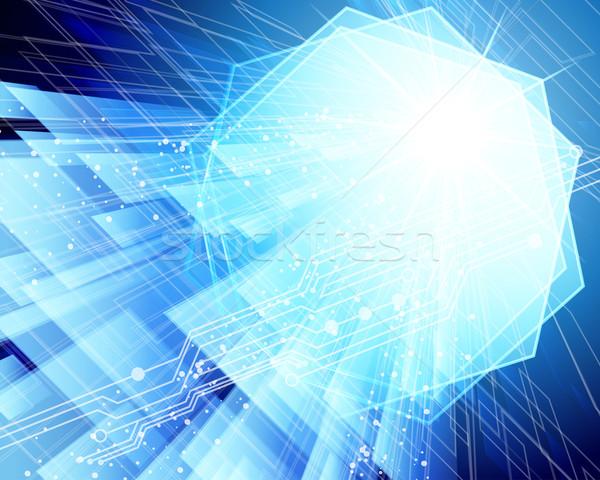 Abstrakten Techno Textur Internet Licht Design Stock foto © OlgaYakovenko