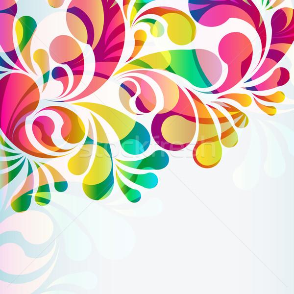 Stockfoto: Abstract · kleurrijk · vector · achtergrond · kunst · zomer