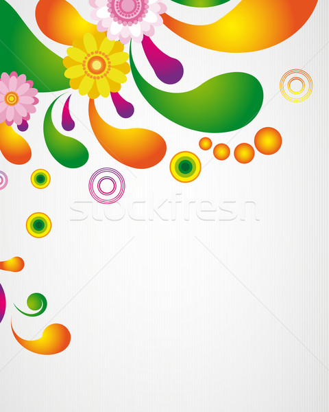 Stock photo: Gift card. Floral design background.