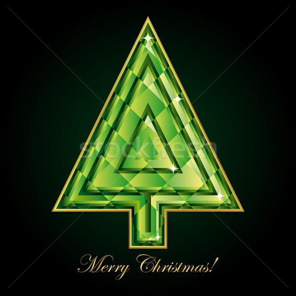 エメラルド クリスマスツリー テクスチャ ツリー デザイン 塗料 ストックフォト © OlgaYakovenko