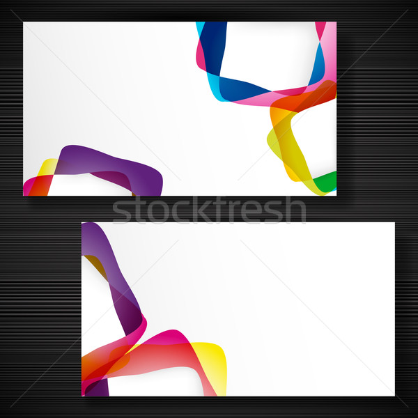 Abstract business-card with forms of empty frames for your card  Stock photo © OlgaYakovenko