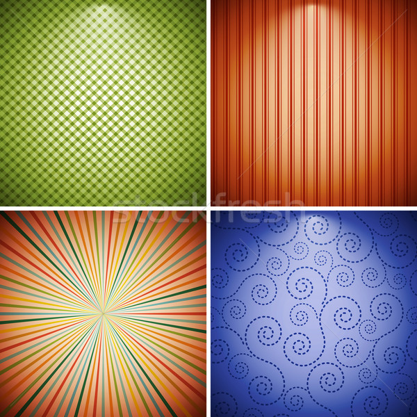 抽象的な レトロな コレクション テクスチャ 壁 スペース ストックフォト © OlgaYakovenko