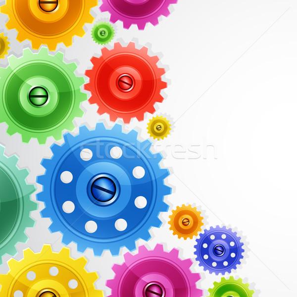 Техно красочный передач промышленных изображение бизнеса Сток-фото © OlgaYakovenko