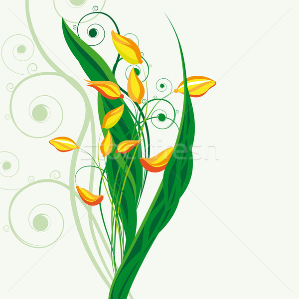 Foto stock: Fadas · floral · páscoa · música · papel · primavera
