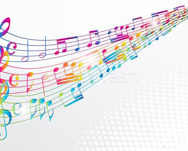 Müzik soyut kaya dalgalar beyaz model Stok fotoğraf © OlgaYakovenko