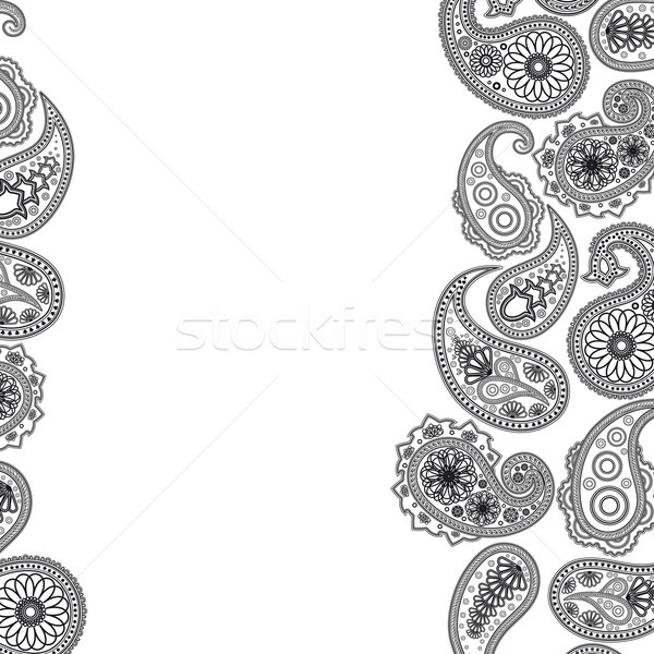 Eps Paisley  surface. Vector abstract background  Stock photo © OlgaYakovenko