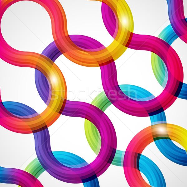 Regenboog abstract illustratie ruimte web groene Stockfoto © OlgaYakovenko
