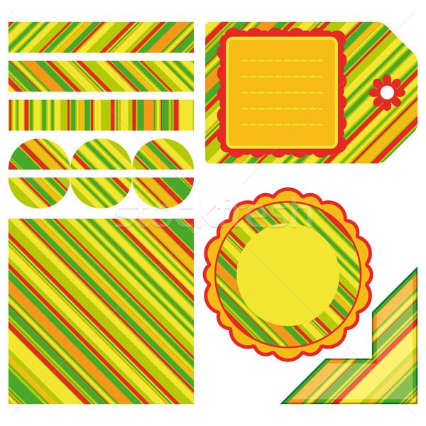 Ostern Set Streifen Design Elemente Illustration Stock foto © OlgaYakovenko