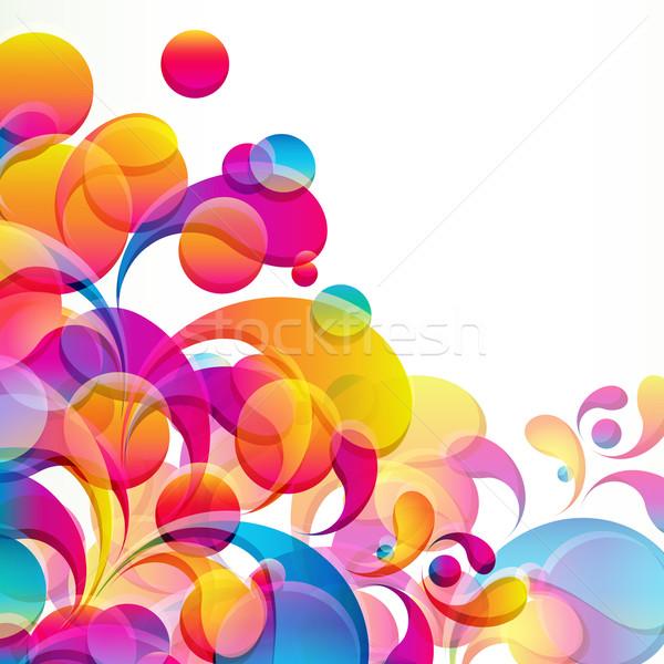 аннотация красочный вектора дизайна мяча обои Сток-фото © OlgaYakovenko