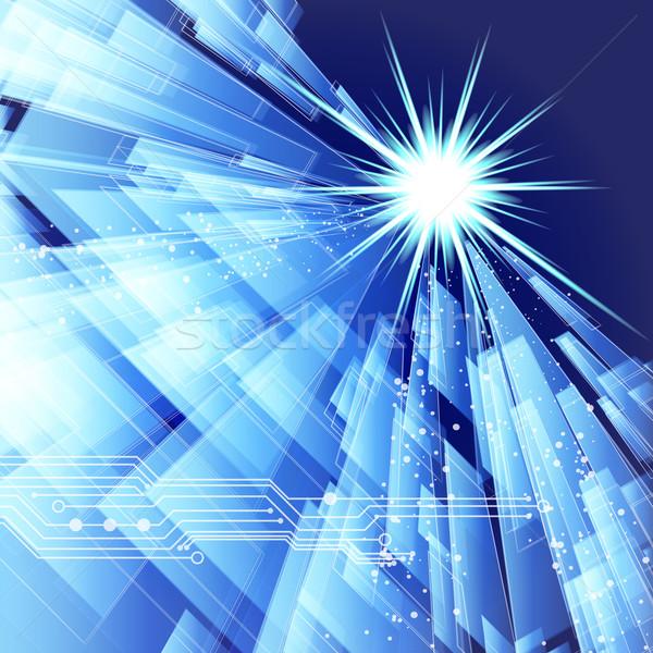 Сток-фото: аннотация · Техно · линия · вектора · прибыль · на · акцию · 10