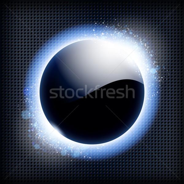 Техно синий свет кадр небе солнце Сток-фото © OlgaYakovenko