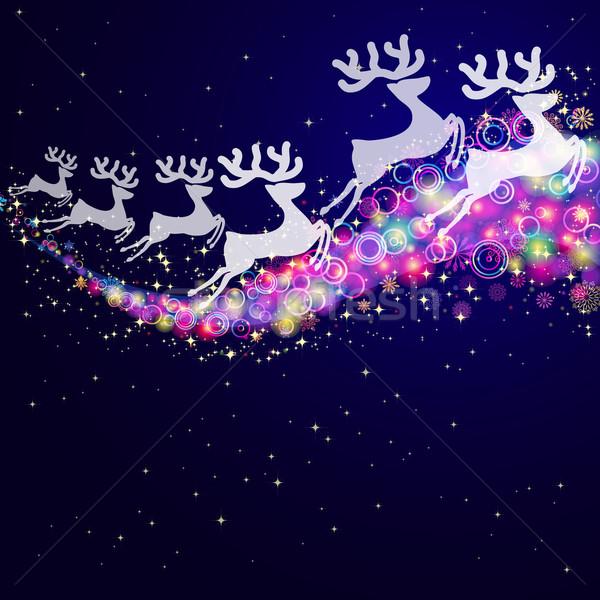 Christmas deers, abstract background. Stock photo © OlgaYakovenko