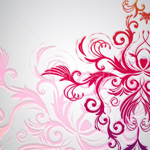 Abstract floral background with oriental flowers. Stock photo © OlgaYakovenko