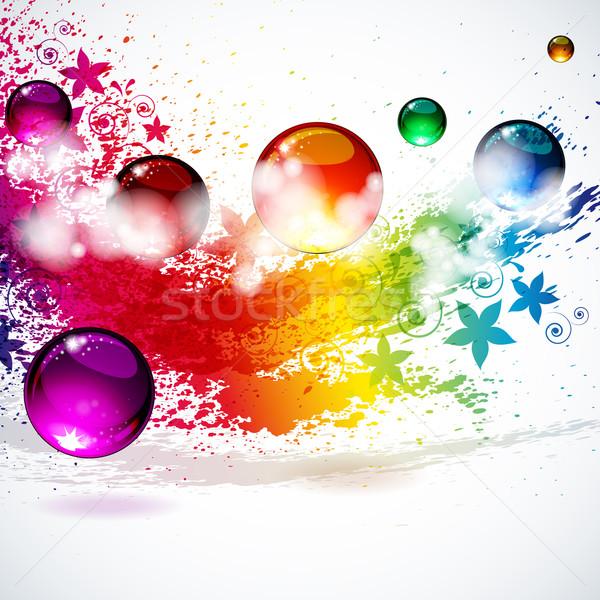 Colorful splash background  Stock photo © OlgaYakovenko