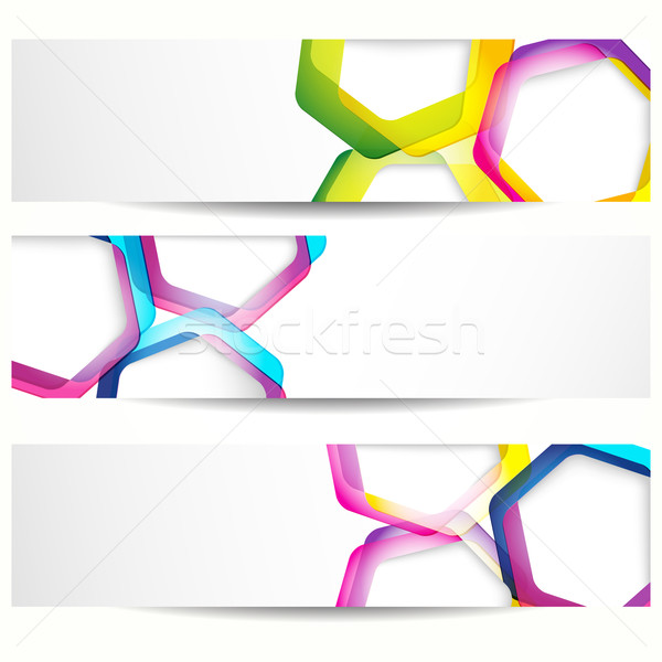 Abstract banner with forms of empty frames for your web design. Stock photo © OlgaYakovenko
