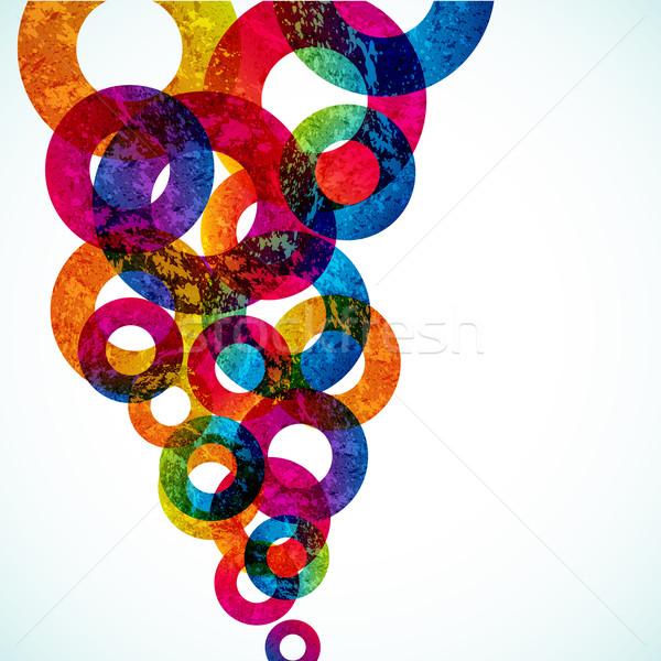 аннотация дизайна Круги вектора фон пространстве Сток-фото © OlgaYakovenko