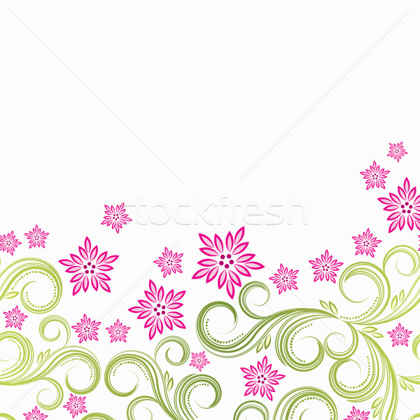 Vector flor rosa floral hierba diseno hoja Foto stock © OlgaYakovenko