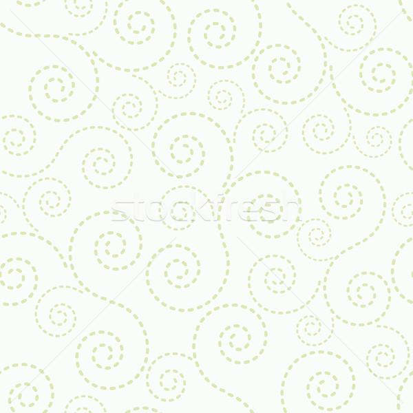 シームレス 薄緑 点在 行 テクスチャ 紙 ストックフォト © OlgaYakovenko