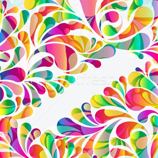 аннотация красочный вектора фон искусства лет Сток-фото © OlgaYakovenko