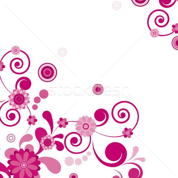 Vektor rózsaszín virág virágmintás lát hasonló látogatás Stock fotó © OlgaYakovenko