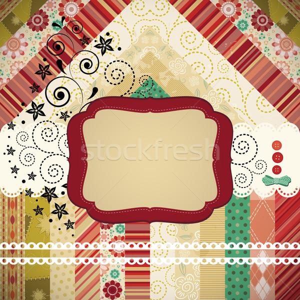 Scrap background made in the classic patchwork technique with fl Stock photo © OlgaYakovenko