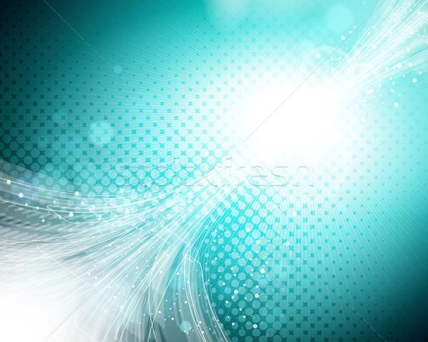 Eps10 abstract turquoise background. Stock photo © OlgaYakovenko
