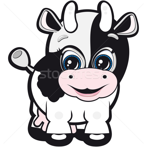 Vector Little cow - one of the symbols of the Chinese horoscope Stock photo © OlgaYakovenko