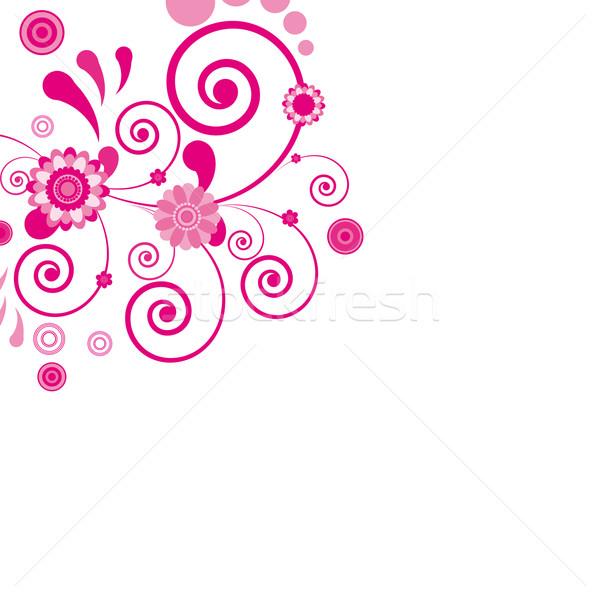 Vector roze bloem zie soortgelijk bezoeken Stockfoto © OlgaYakovenko