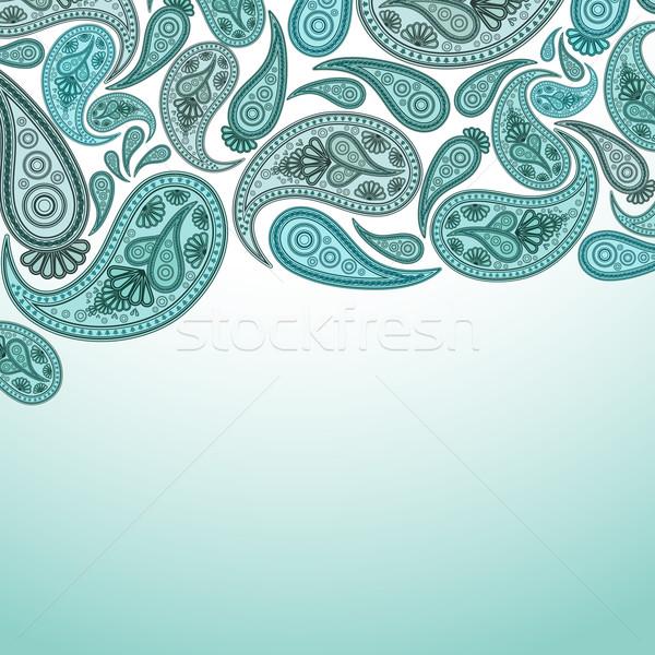 Paisley Oriental decor background. Vector illustration. Stock photo © OlgaYakovenko