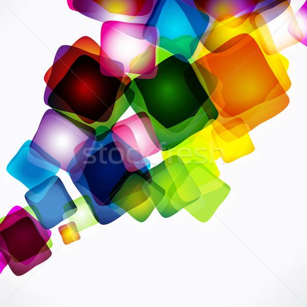 Stockfoto: Vector · abstract · heldere · kleurrijk · ontwerp · regenboog