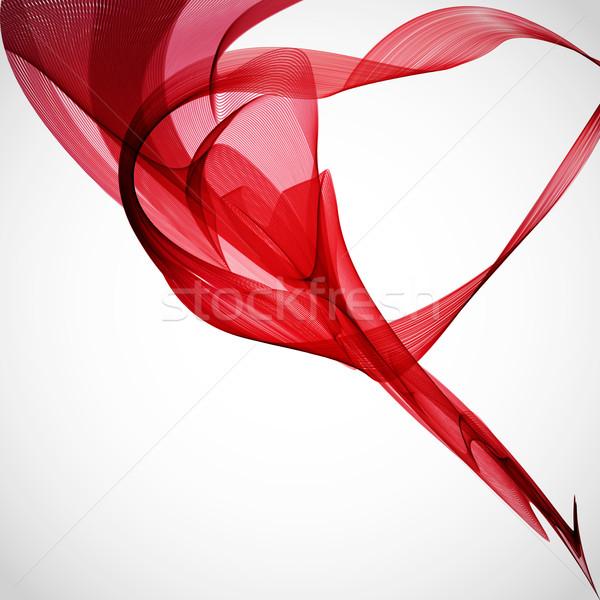 красный кадр дизайна дым цвета обои Сток-фото © OlgaYakovenko