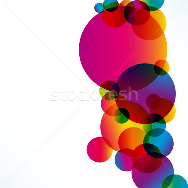 Absztrakt színes vektor terv háttér űr Stock fotó © OlgaYakovenko