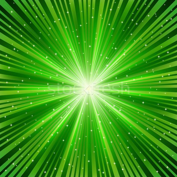 Groene star abstract achtergrond ruimte energie Stockfoto © OlgaYakovenko